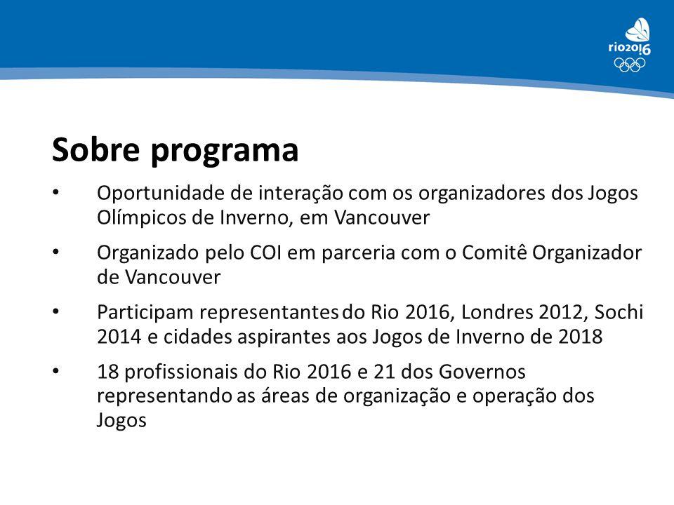Sobre programa Oportunidade de interação com os organizadores dos Jogos Olímpicos de Inverno, em Vancouver.