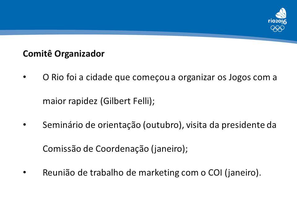 Comitê Organizador O Rio foi a cidade que começou a organizar os Jogos com a maior rapidez (Gilbert Felli);