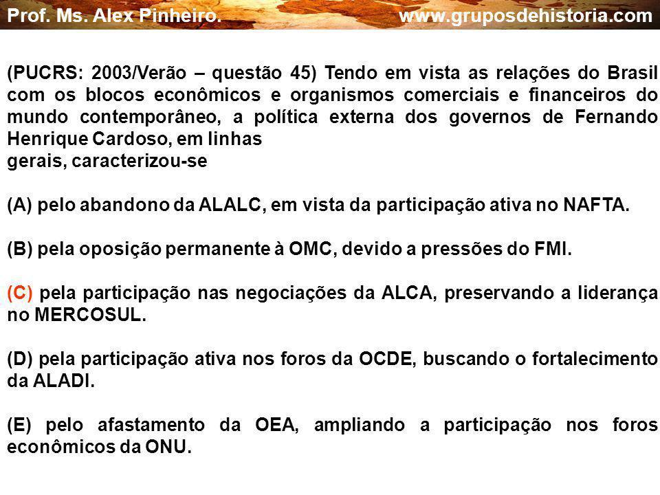 Prof. Ms. Alex Pinheiro. www.gruposdehistoria.com