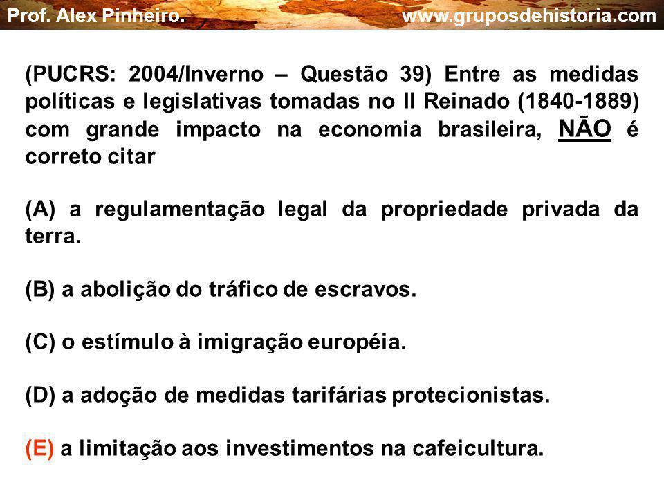 (A) a regulamentação legal da propriedade privada da terra.