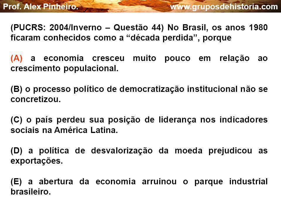 (D) a política de desvalorização da moeda prejudicou as exportações.