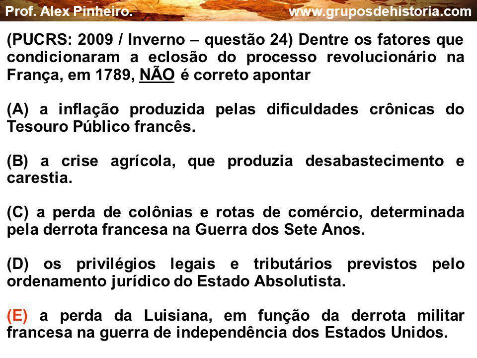 (B) a crise agrícola, que produzia desabastecimento e carestia.