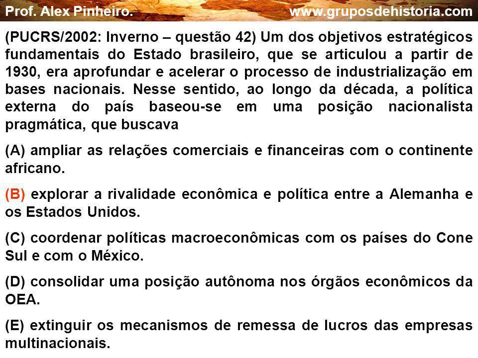 (D) consolidar uma posição autônoma nos órgãos econômicos da OEA.