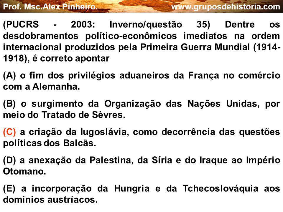 (D) a anexação da Palestina, da Síria e do Iraque ao Império Otomano.