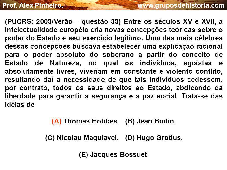 (A) Thomas Hobbes. (B) Jean Bodin.