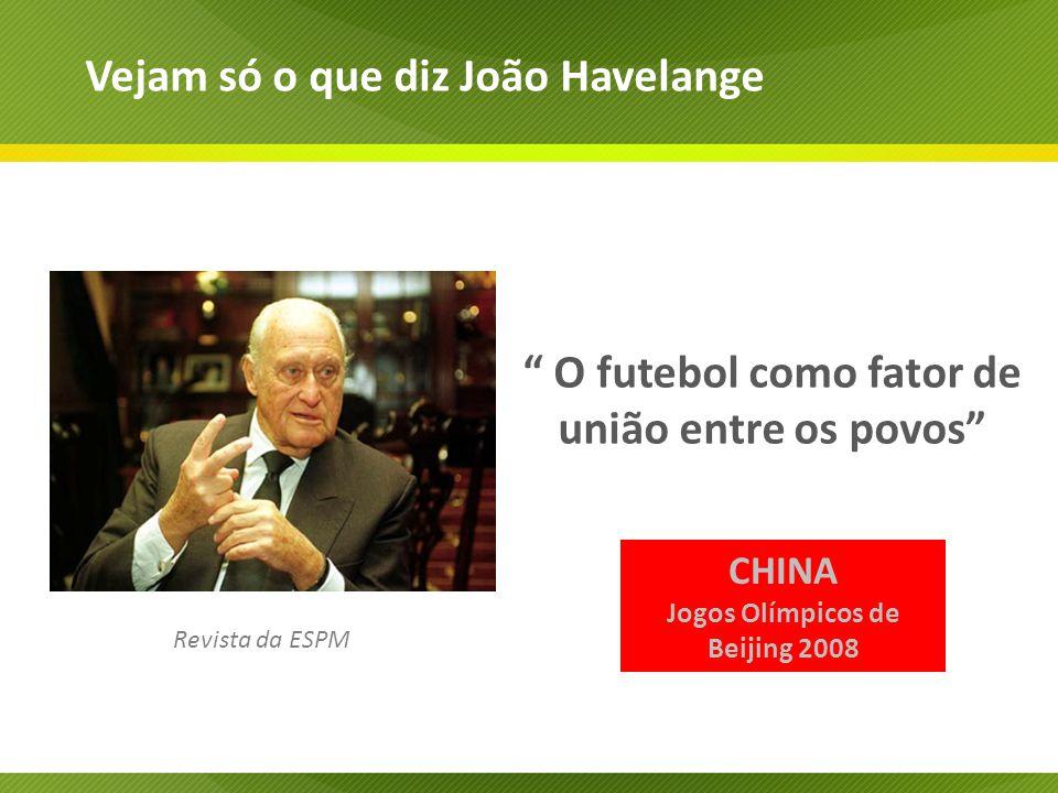 O futebol como fator de união entre os povos