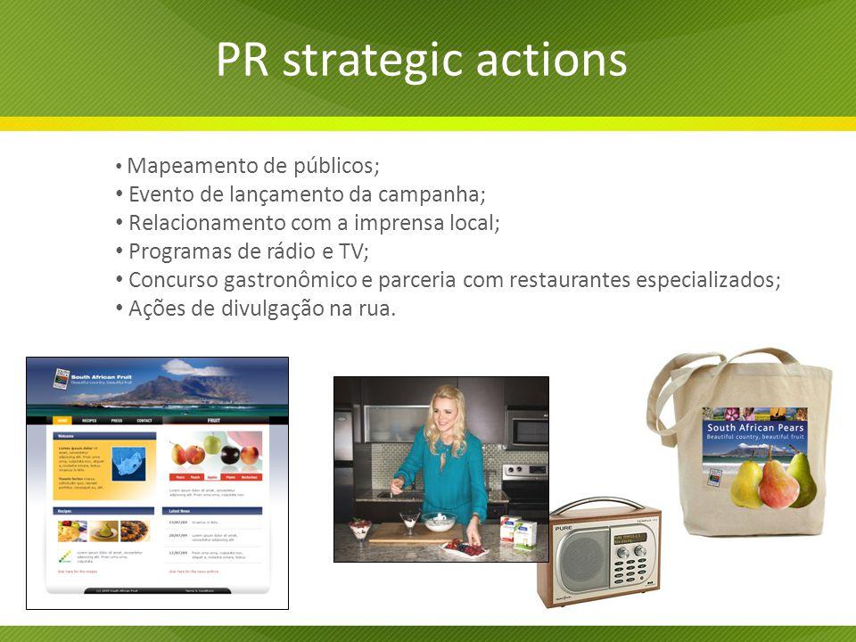 PR strategic actions Evento de lançamento da campanha;
