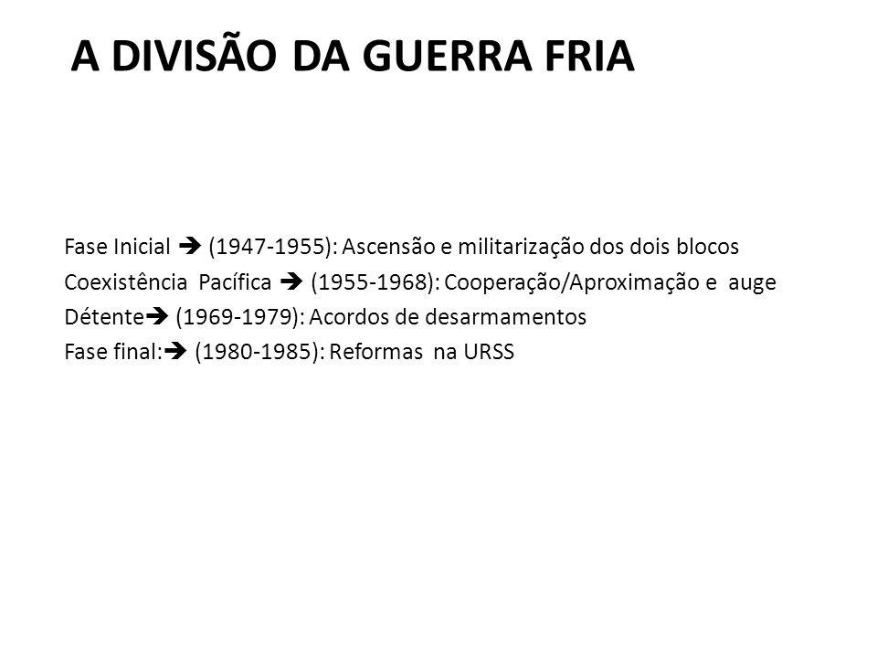 A DIVISÃO DA GUERRA FRIA