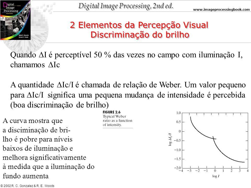 2 Elementos da Percepção Visual Discriminação do brilho