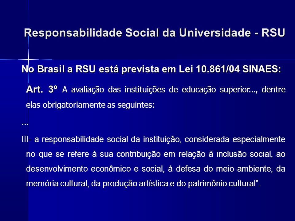 Responsabilidade Social da Universidade - RSU