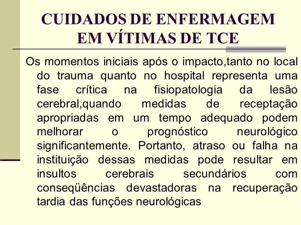 CUIDADOS DE ENFERMAGEM EM VÍTIMAS DE TCE