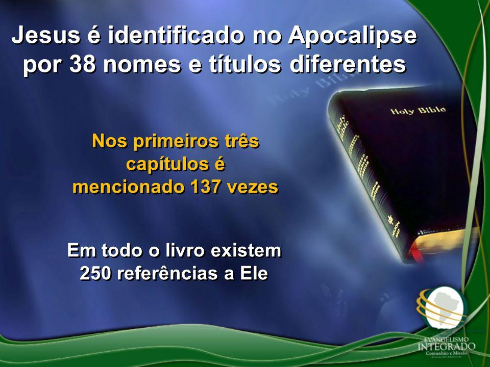 Jesus é identificado no Apocalipse por 38 nomes e títulos diferentes