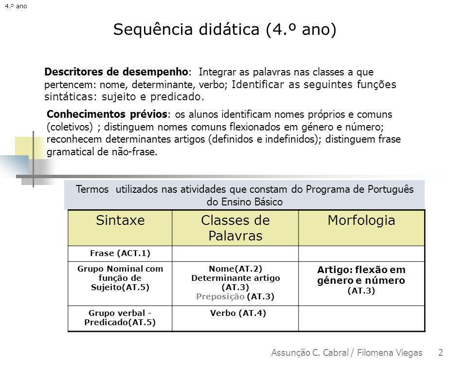 Sequência didática (4.º ano)