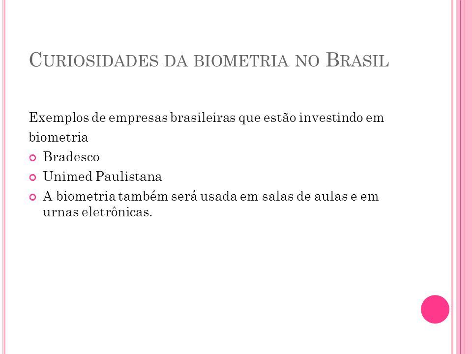 Curiosidades da biometria no Brasil