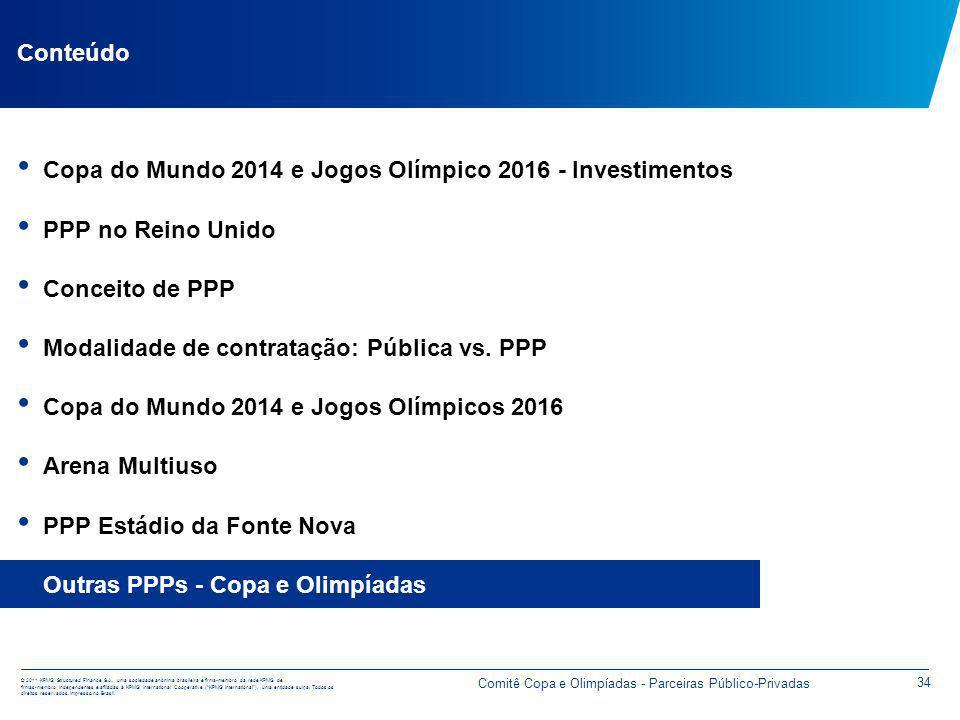 Outras PPPs - Copa e Olimpíadas