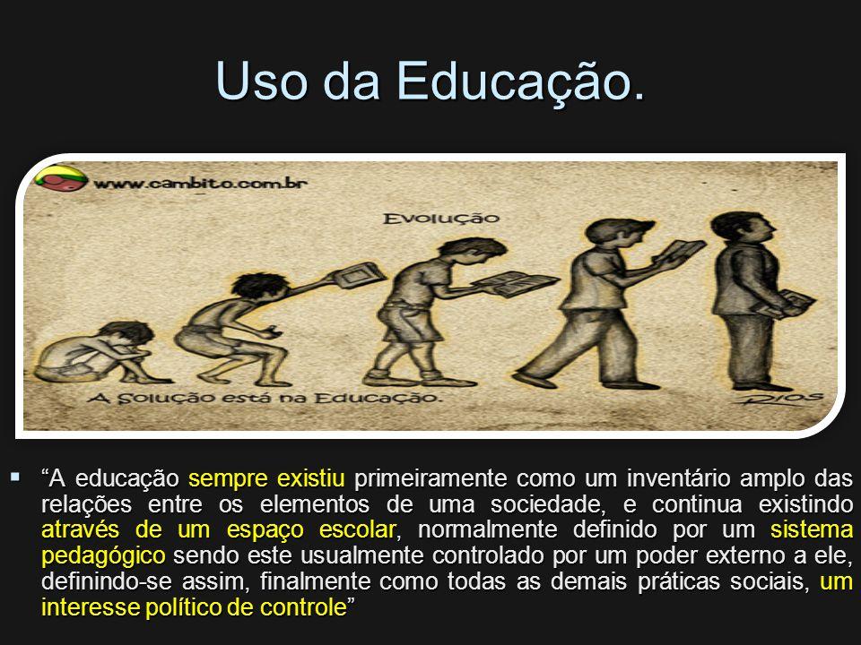 Uso da Educação.