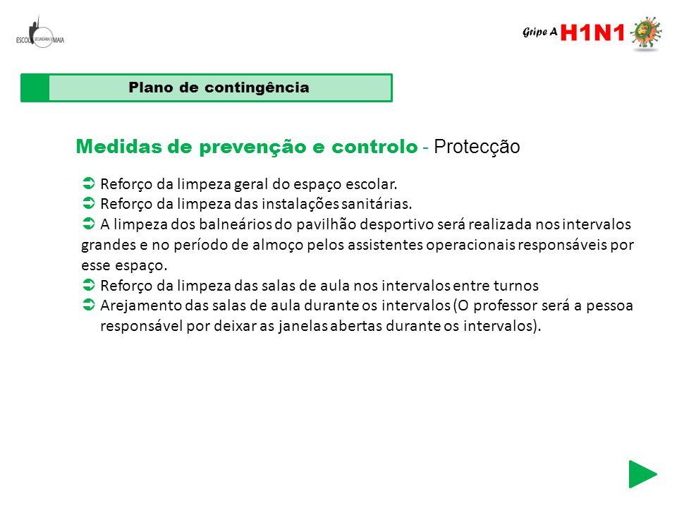 H1N1 Medidas de prevenção e controlo - Protecção