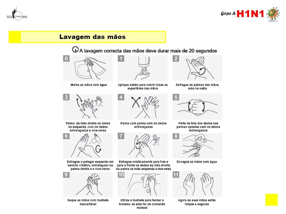 H1N1 Gripe A Lavagem das mãos
