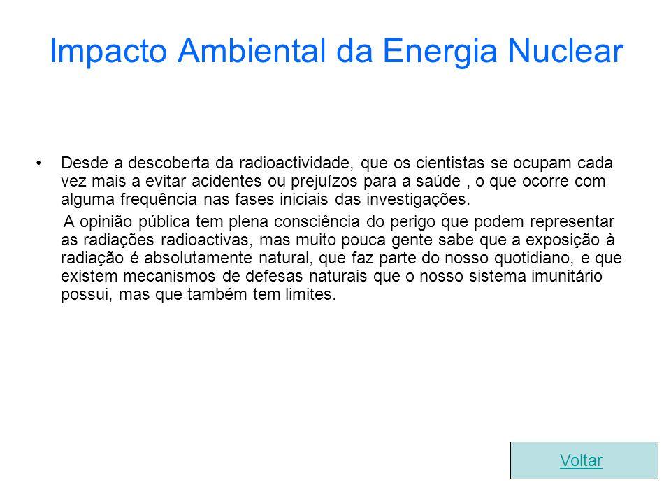 Impacto Ambiental da Energia Nuclear
