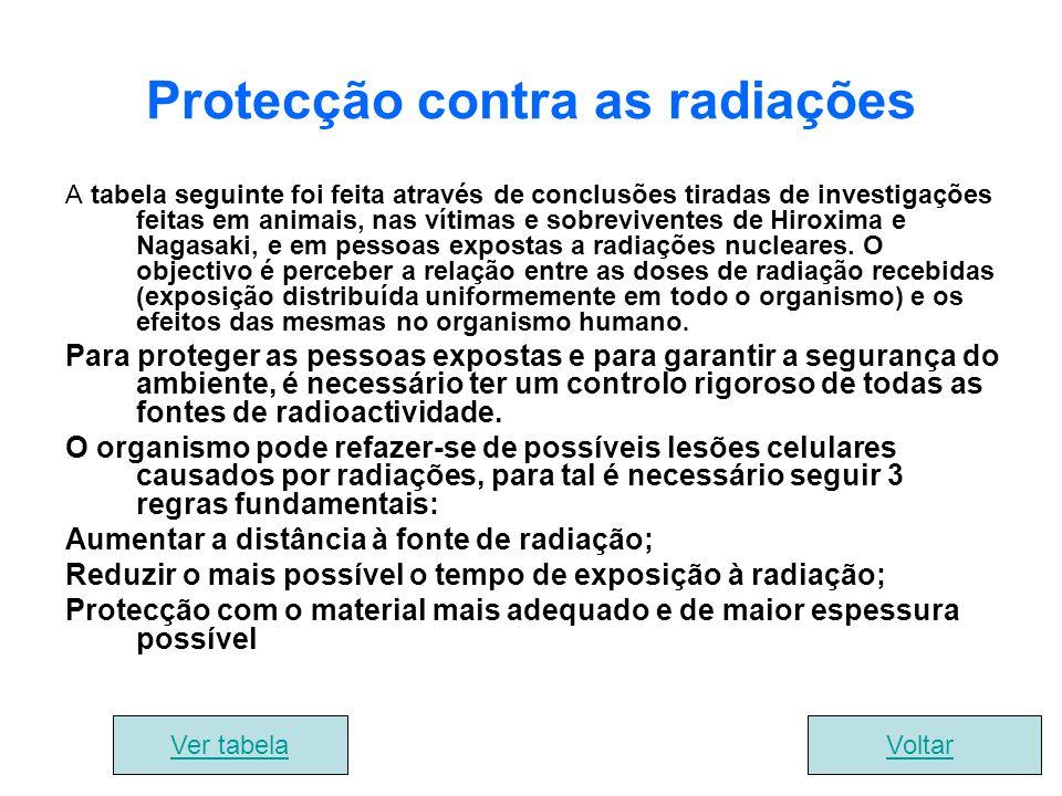 Protecção contra as radiações