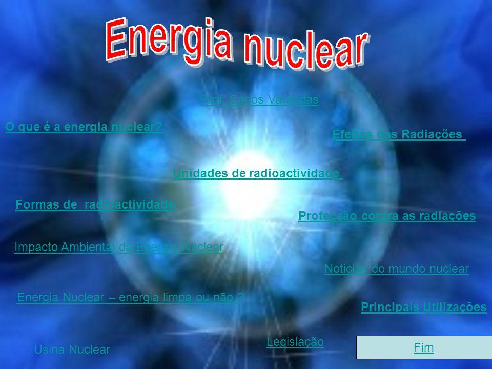 Energia nuclear Prof. Carlos Varandas O que é a energia nuclear