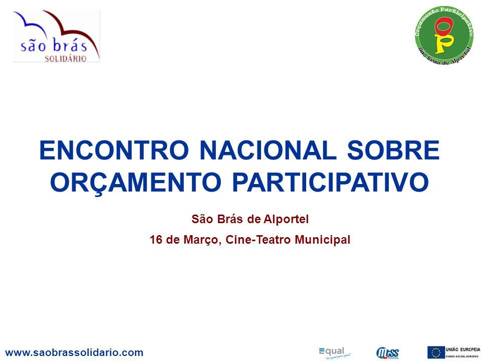 ENCONTRO NACIONAL SOBRE ORÇAMENTO PARTICIPATIVO