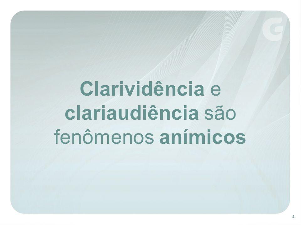 Clarividência e clariaudiência são fenômenos anímicos