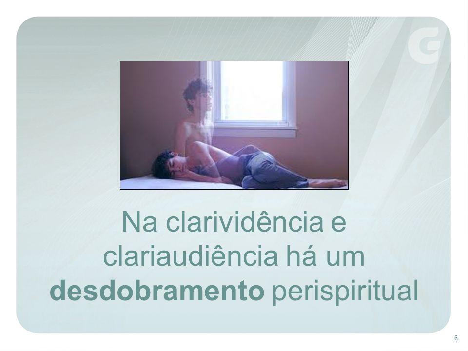 Na clarividência e clariaudiência há um desdobramento perispiritual