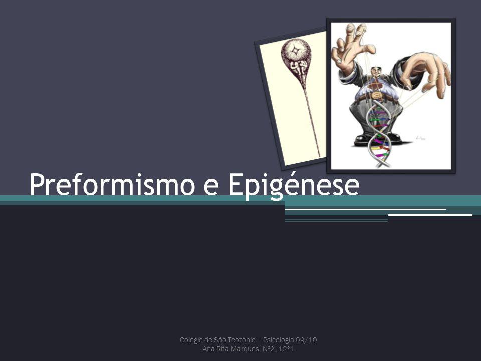 Preformismo e Epigénese