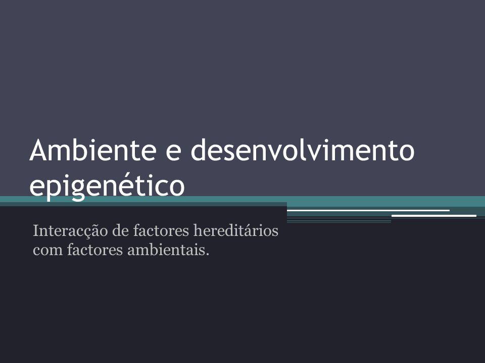 Ambiente e desenvolvimento epigenético