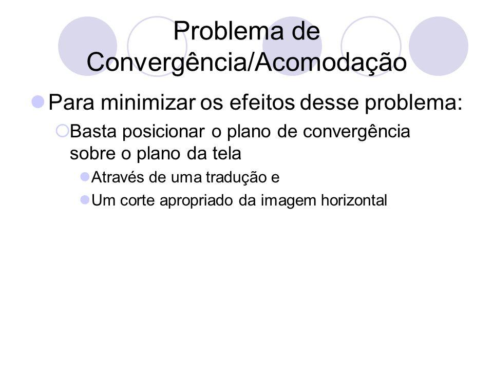 Problema de Convergência/Acomodação