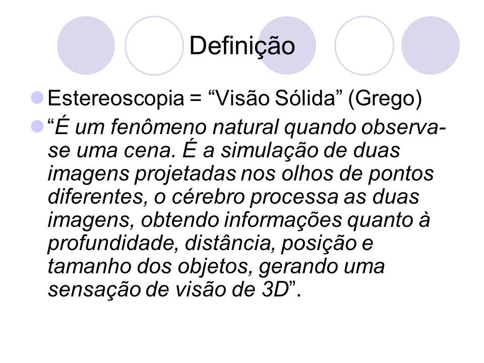 Definição Estereoscopia = Visão Sólida (Grego)