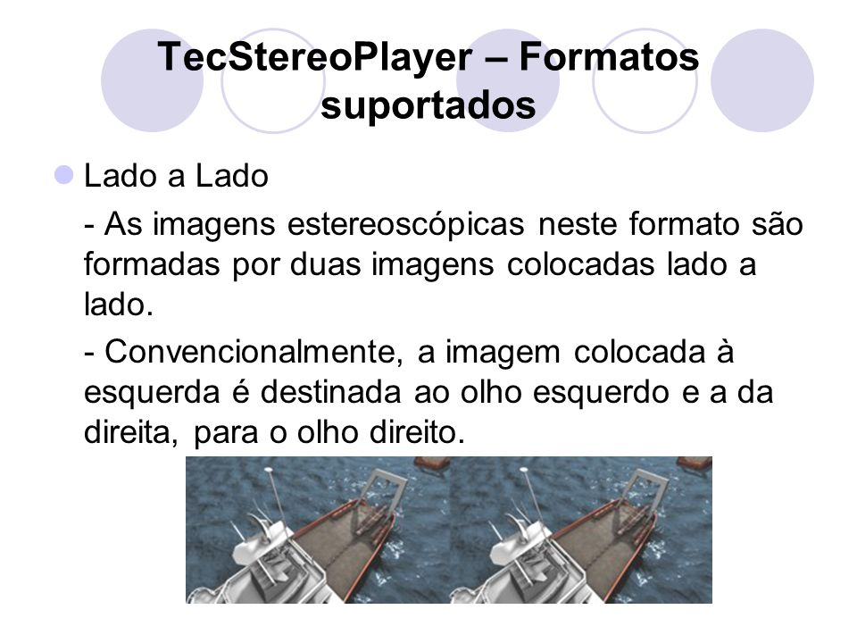 TecStereoPlayer – Formatos suportados