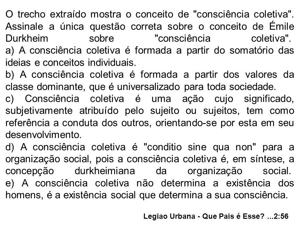O trecho extraído mostra o conceito de consciência coletiva