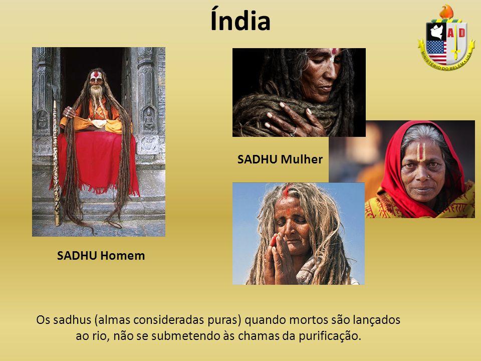 Índia SADHU Mulher SADHU Homem