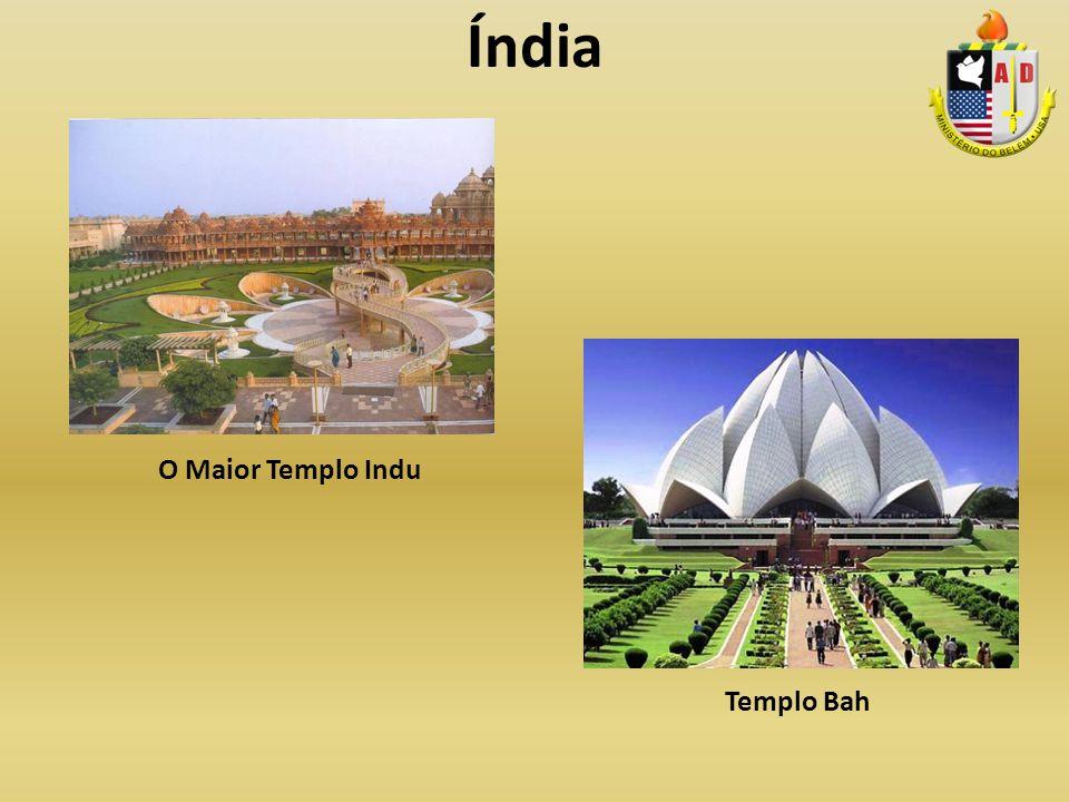 Índia O Maior Templo Indu Templo Bah