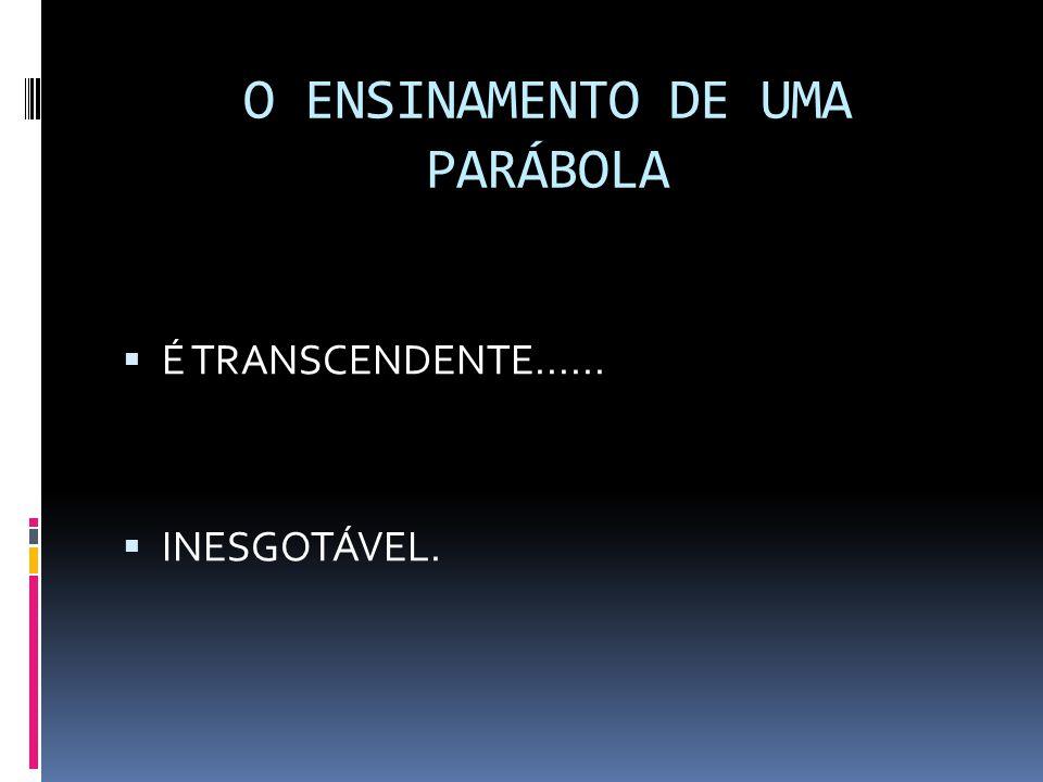 O ENSINAMENTO DE UMA PARÁBOLA