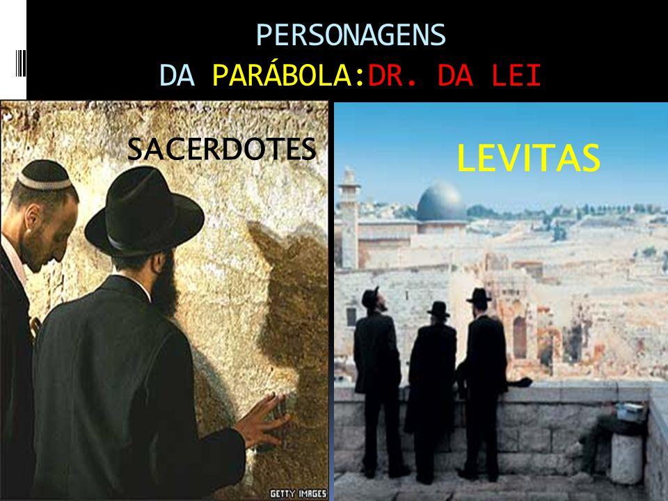PERSONAGENS DA PARÁBOLA:DR. DA LEI