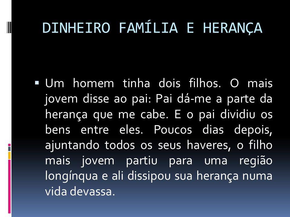 DINHEIRO FAMÍLIA E HERANÇA
