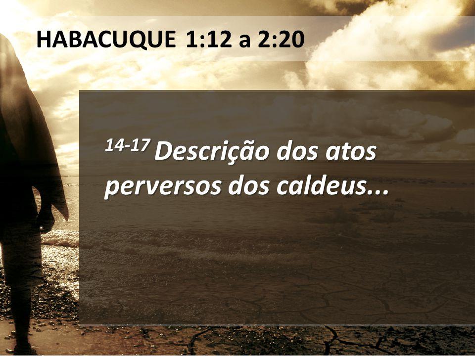 14-17 Descrição dos atos perversos dos caldeus...