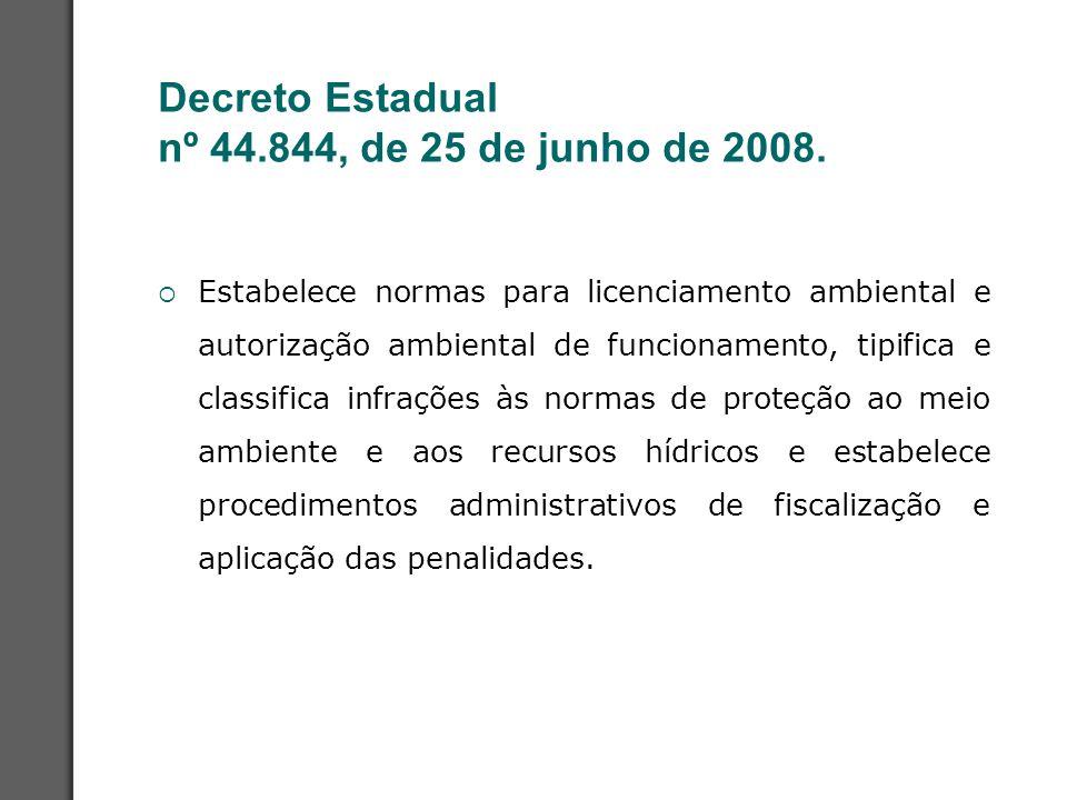 Decreto Estadual nº 44.844, de 25 de junho de 2008.