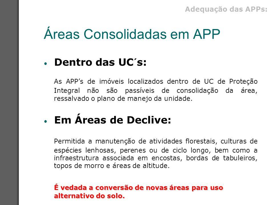 Áreas Consolidadas em APP