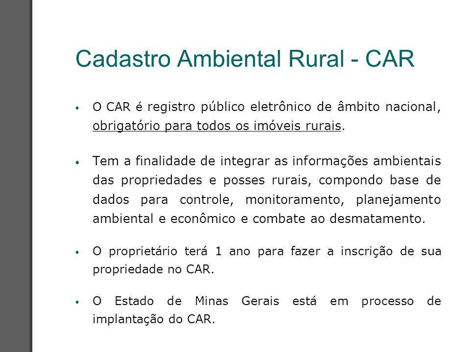 Cadastro Ambiental Rural - CAR