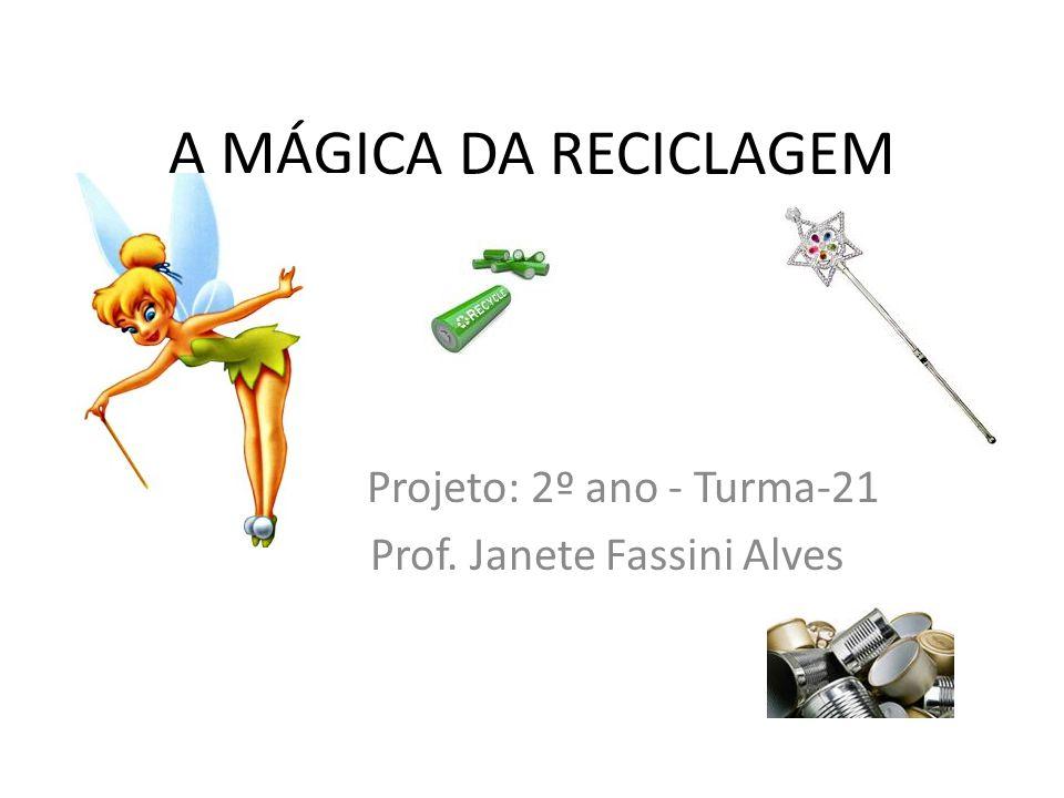Projeto: 2º ano - Turma-21 Prof. Janete Fassini Alves