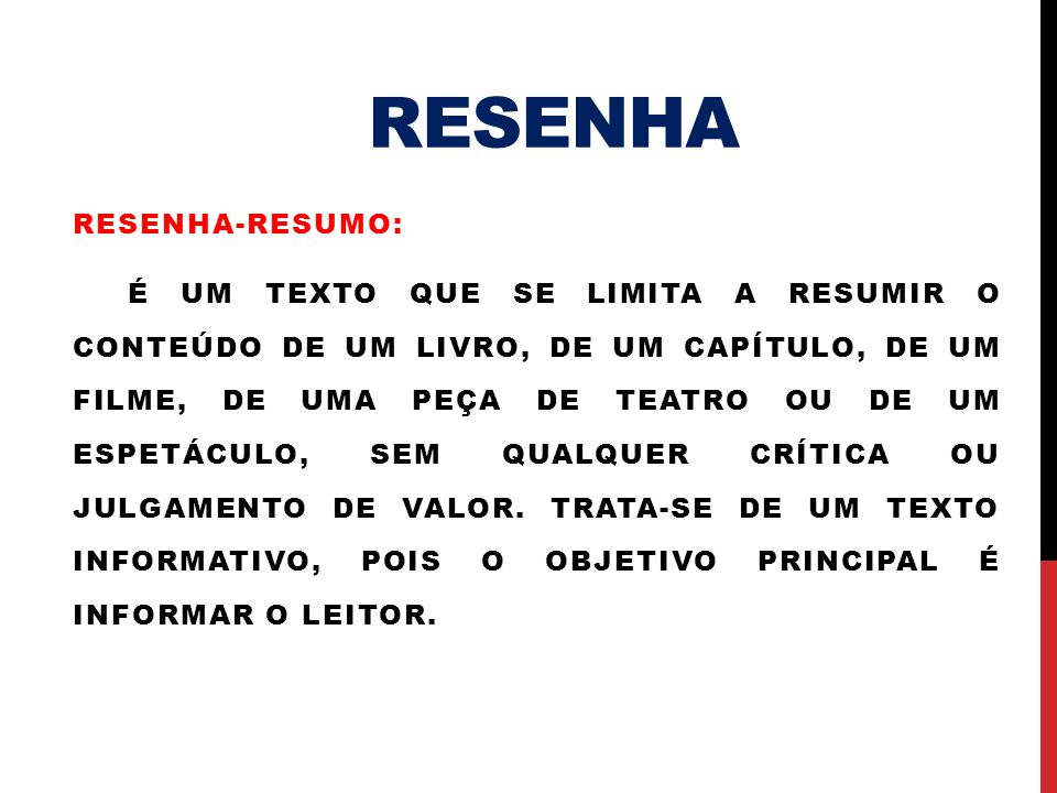 RESENHA Resenha-resumo: