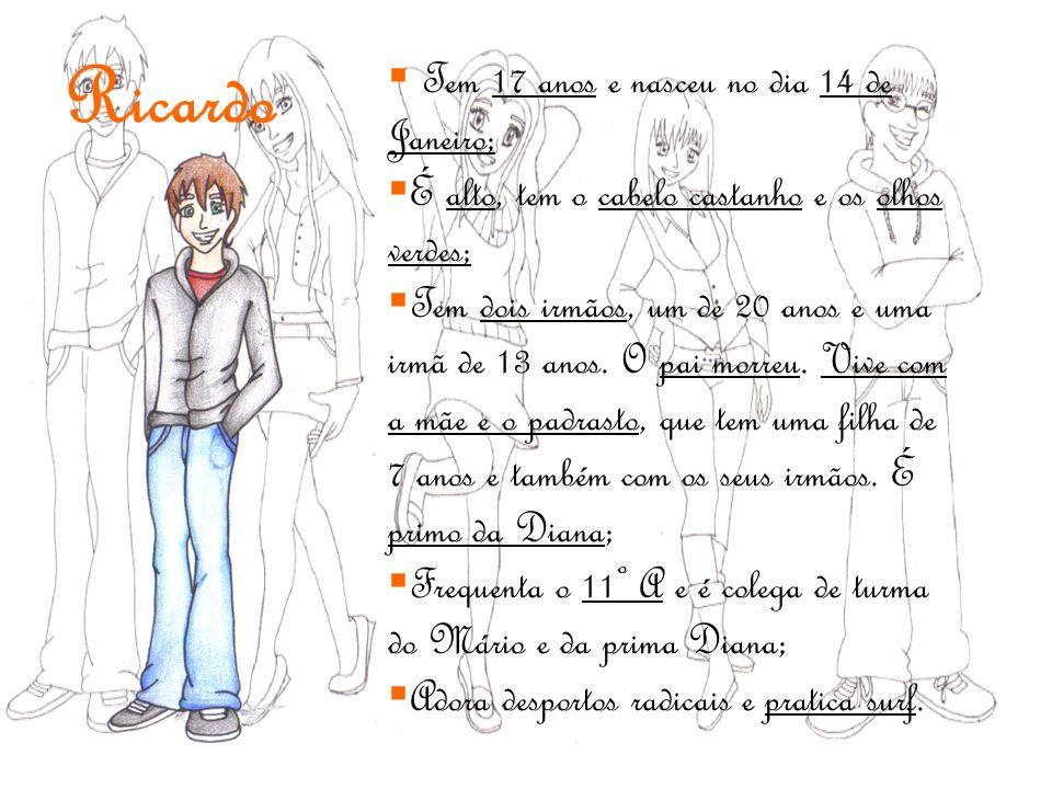 Ricardo Tem 17 anos e nasceu no dia 14 de Janeiro;