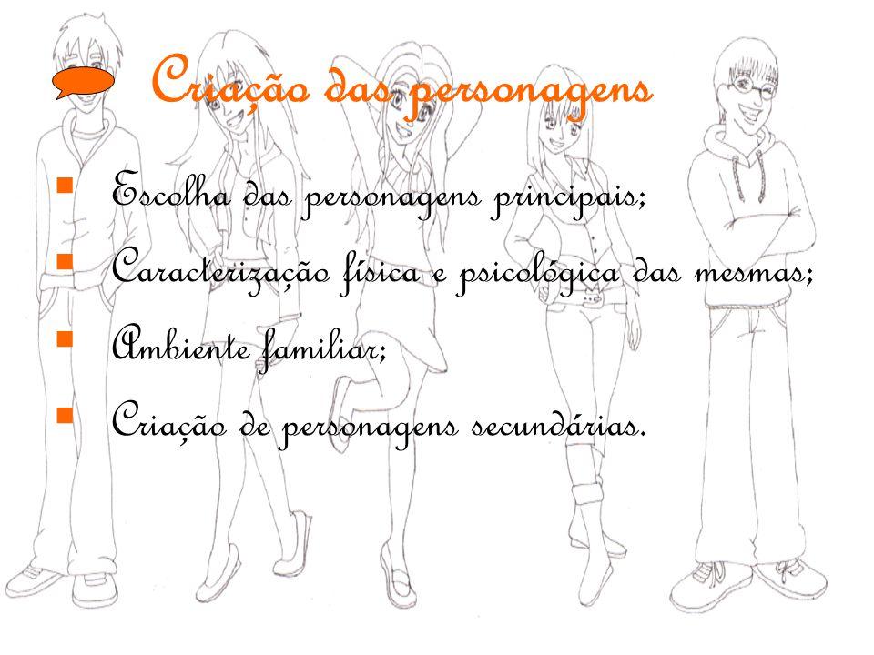 Criação das personagens