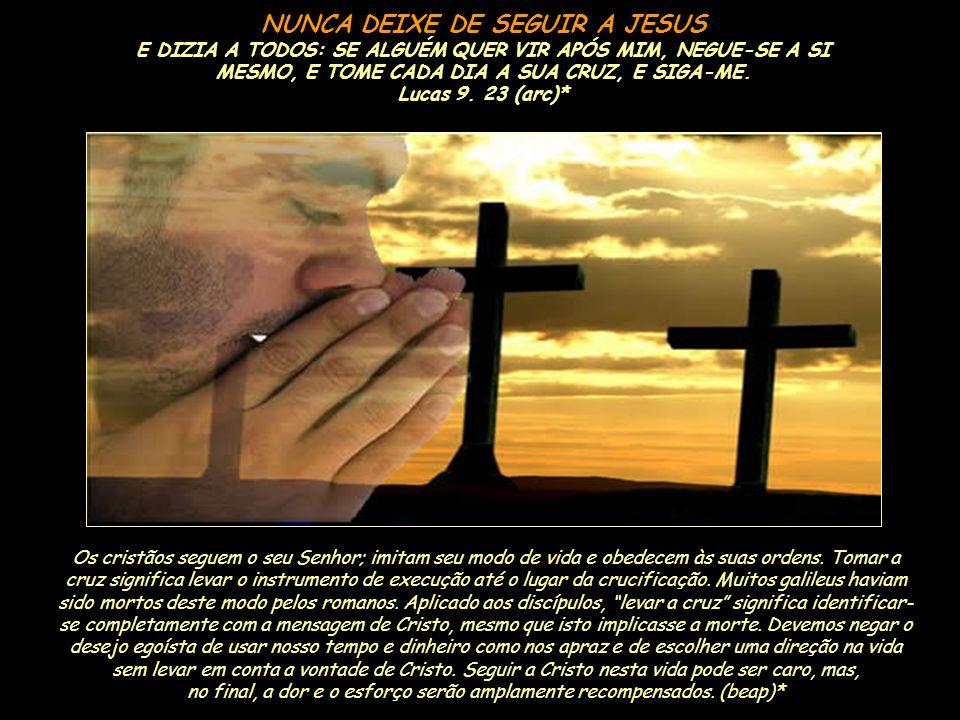 NUNCA DEIXE DE SEGUIR A JESUS