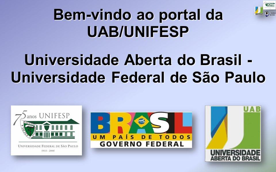 Bem-vindo ao portal da UAB/UNIFESP