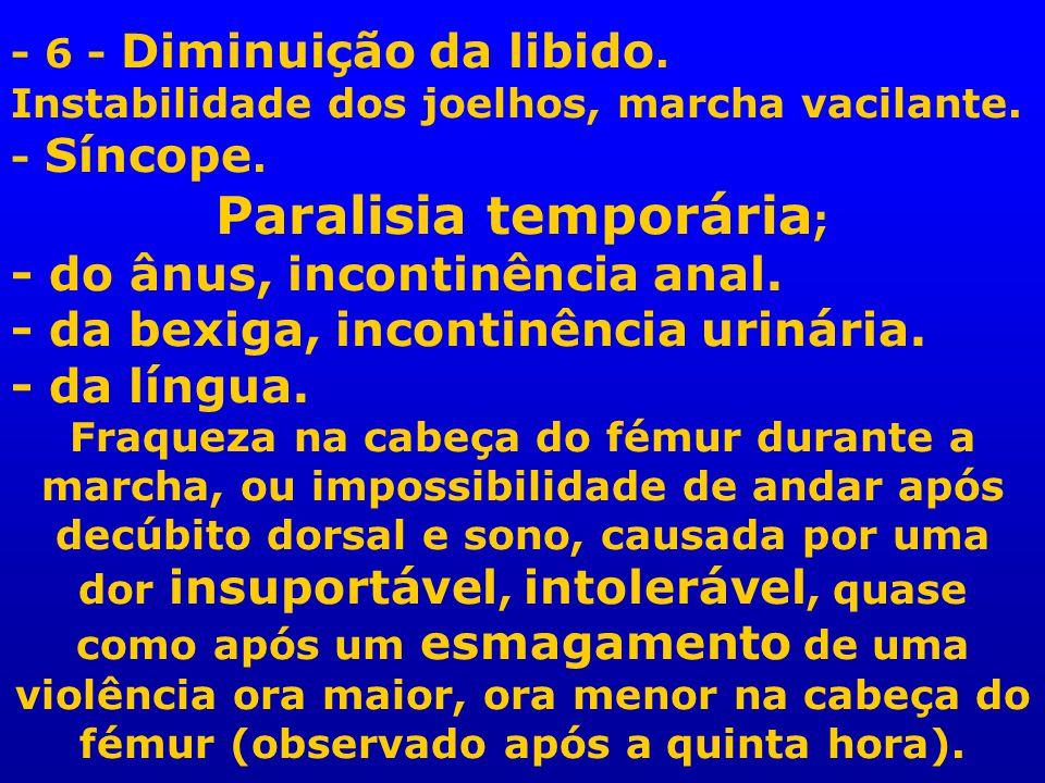 Paralisia temporária;